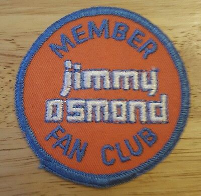 JIMMY OSMOND MEMBER FAN CLUB Embroidered Sew on Patch • NEW