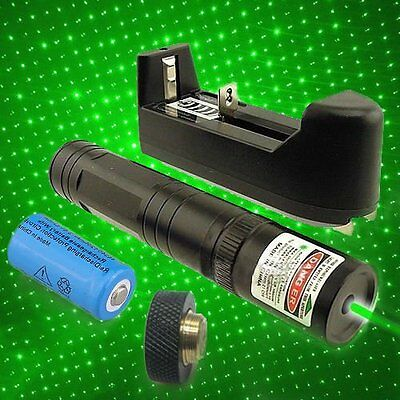 10 Mile 851 Green Red Purple Laser Pointer 1mW 532nm 16340 Rechargeable
