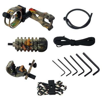 Camo Compound Bow Upgrade Kit Stabilizer Bow Peep Sight Arrow Rest Archery