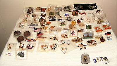 Large Vintage Lot of 84 Jaycee Pins Multiple State Oulines and special pins