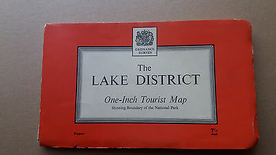 The Lake District Ordnance Survey Map One-Inch Tourist Map 1963