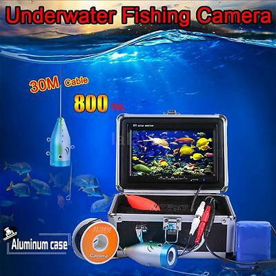 "30m Underwater Video Camera Fishing Fish Finder Colour 7"" LCD TFT Screen O0W8"