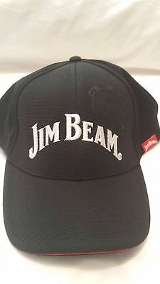 Brand New Genuine Jim Beam Black Cap/Hat - One Size fits Most