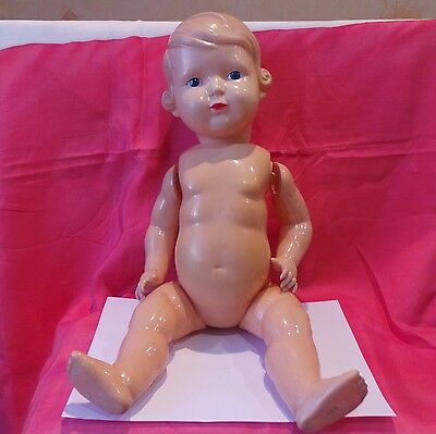 Doll Celluloid - oxk, Leningrad, USSR 1950-60 year, 50 cm 19.6 inches, USSR +