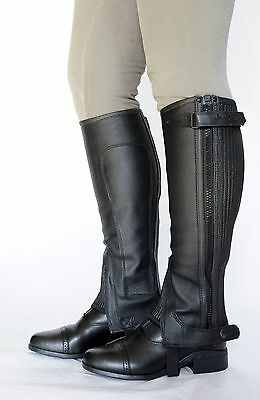 Just Chaps Child LeatherRiding Half Chaps 15% OFF black & brown All sizes