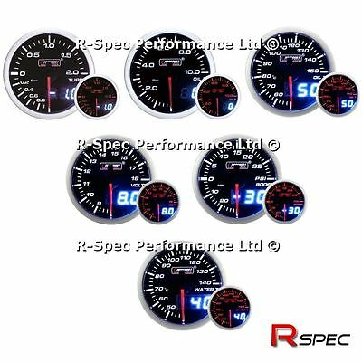 ANY 3 GAUGE OFFER - 52mm Prosport Dual Display Turbo Boost Oil Press Water Temp