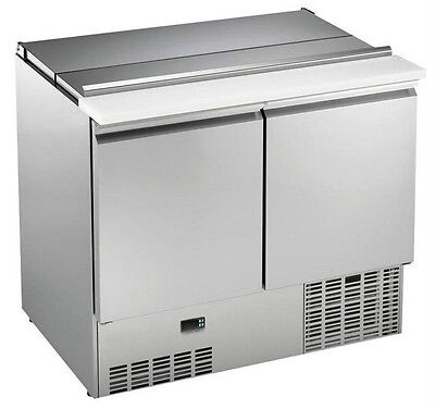New Two Door Fridge/ Refrigerated Saladette Pizza Prep Counter