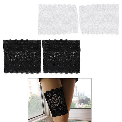 Women Elastic Lace Anti-Chafing Thigh Bands Socks Non Slip Leg Warmers 5 Sizes