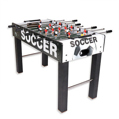 4Ft X 2Ft Free-Standing Wooden Foosball Table Football Soccer Game With 2 Balls