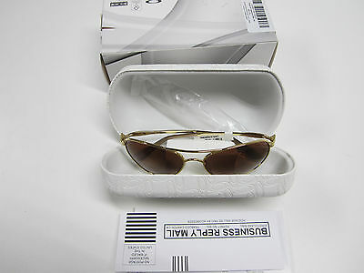 *new* Oakley Given Aviator Polished Gold W/dark Brown Graduated. Demo Sample