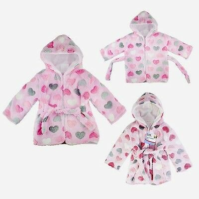 Great Summer  Offer !!   Baby Hooded Fleece Dressing Gown / Robe.