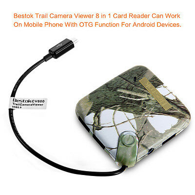 Bestok Trail Camera Viewer for Android Phones Micro USB Connector Reads SD +Card