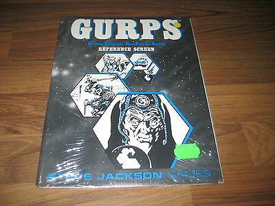 GURPS 2nd Edition GM Screen Reference Screen Steve Jackson Games 1988 New SW