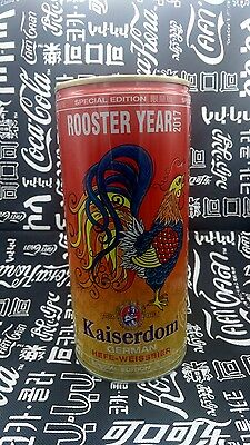 Rare China 2017 Kaiserdom Beer The Rooster New Year 1L Special Empty Can