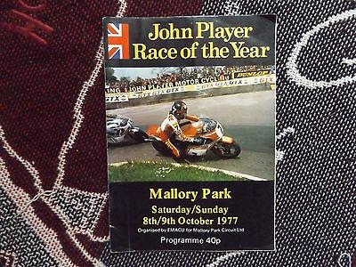 1977 Mallory Park Programme 9/10/77 - John Player Race Of The Year