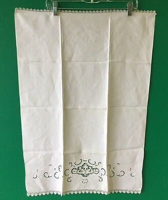4 Different  White Embroidered Tea Towels?