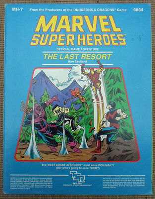 TSR Marvel Super Heroes Role Playing Game RPG MH-7 Last Resort Adventure Module