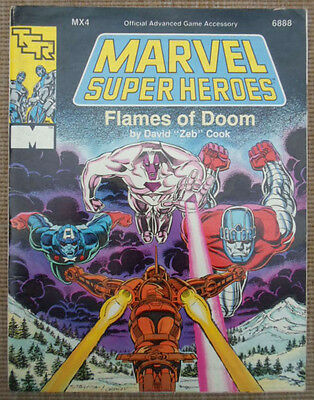 TSR Marvel Super Heroes Role Playing Game RPG Flames Of Doom Adventure Module