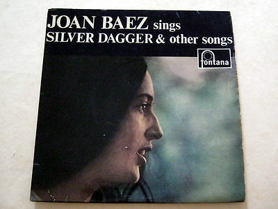 JOAN BAEZ SINGS SILVER DAGGER and Other Songs E.P.-FONTANA TFE.18005 1960 EX+