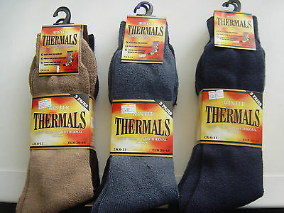 Wholesale job lot Men Thermal Warm Winter Heat Work Black Multi Colour Socks