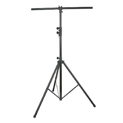 Music Stage DJ T Bar Tripod Speaker Light Stand Extendable 12.5ft up to 77lbs