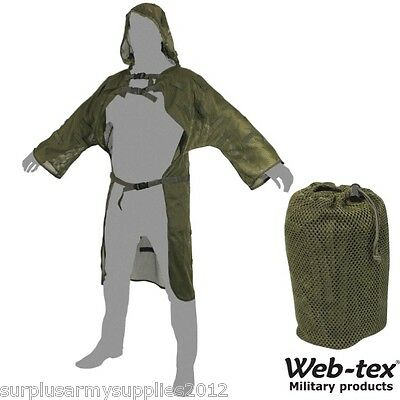 Web-Tex Lightweight Mesh Concealment Vest Ghillie Suit Sniper Hunting Army