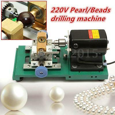 220V 300W Stepless Pearl Drilling Holing Machine Driller Full Set Jewelry Tools