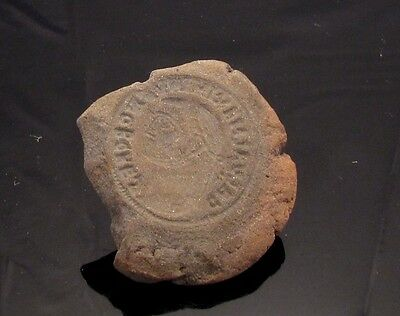 Ancient Rome, c. 340 - 360 AD. Clay counterfeiter's mould #2