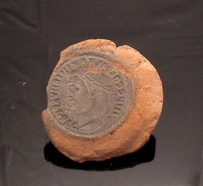 Ancient Rome, c. 340 - 360 AD. Clay counterfeiter's mould #5