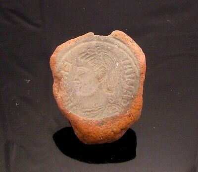 Ancient Rome, c. 340 - 360 AD. Clay counterfeiter's mould #6