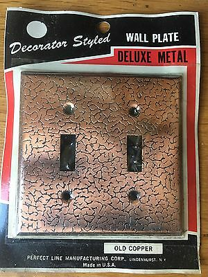 NEW OLD STOCK 1960 Copper Double Light Switch Wall Plate Multiples Available