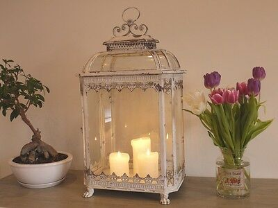 LARGE ANTIQUE STYLE  METAL LANTERN CANDLE HOLDER HOME WEDDING TABLE 70cm