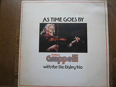 """Stephane Grappelli With The Diz Disley Trio """"as Time Goes By"""" Lp Vinyl Record"""