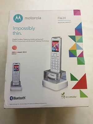 Motorola IT.6.1H Impossibly Thin Digital Additional Handset - White