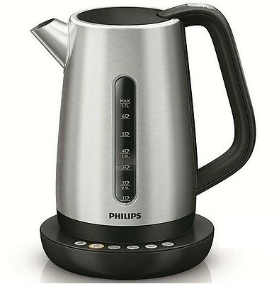 PHILIPS HD 9385 /21 Wasserkocher Avance Collection Edelstahl 4 Temperaturen NEU