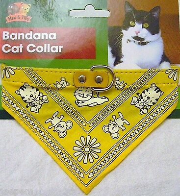 Bandana Cat Collar adjustable faux patent leather strap with lead hook