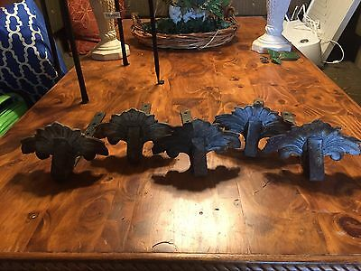 Set Of 5 Decorative Vintage Cast iron Snow Guards
