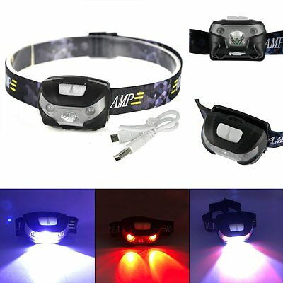 Bright Hunting Light LED Headlight Camping Head lamp Torch USB Rechargeable
