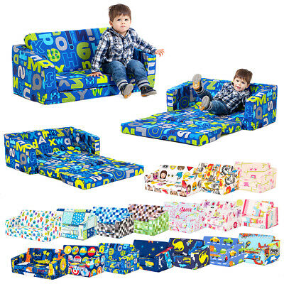 Lily Kids Flip Out Sofa Sleep Over Fold Chair Z Bed Mattress Childrens Furniture