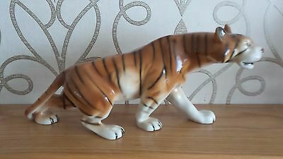 ROYAL DUX figurine of a stalking tiger