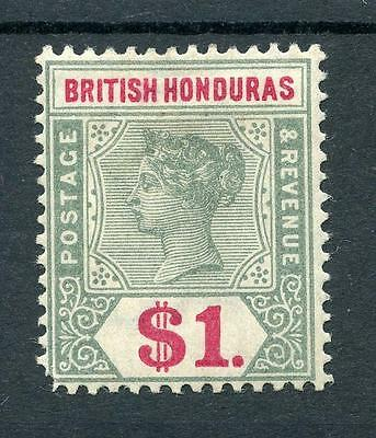 British Honduras 1891-1901 $1 green and carmine SG63 MM cat £95 - see desc