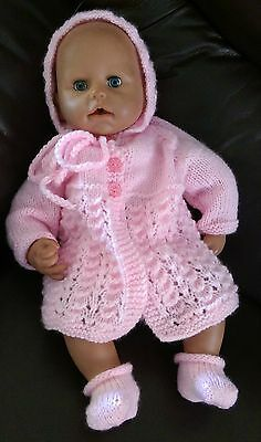 """Hand Knitted Dolls Clothes to fit 18""""-19"""" Doll, Baby Annabell or similar"""