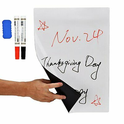 "17"" x 11"" Dry Erase Magnetic Refrigerator Flexible White Board Planner Message"