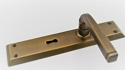 Old Mill Antique Brass Door Lever Handles Large Square design Vintage Collection