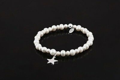 Real White Freshwater Pearl Bracelet 925 Sterling Silver Sarulo Jewelry Fashion