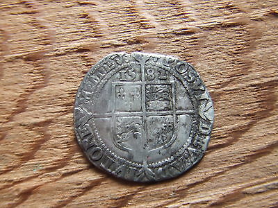 ELIZABETH 1st  1558- 1603.  SILVER SIXPENCE. 1582    NICE CONDITION.