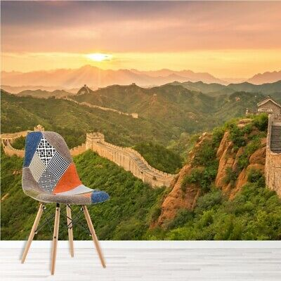 The Great Wall Of China Sunrise Wall Mural Wallpaper WS-42764