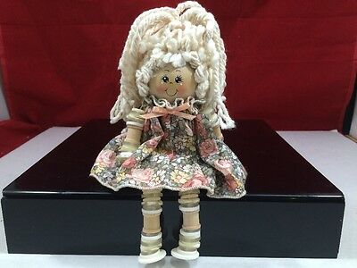 Handmade Button and Thread Spool Doll '' BUTTON BABY'' #014