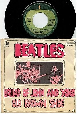 THE BEATLES Ballad of John and Yoko 45rpm 7' + PS 1969 ITALY MINT
