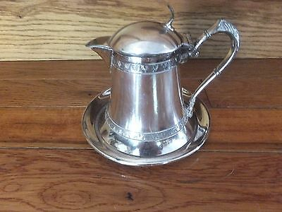 ANTIQUE New Amsterdam Silver Co. silver plate Plate & Covered Creamer 1850-1859